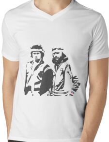 McEnroe / Borg Mens V-Neck T-Shirt