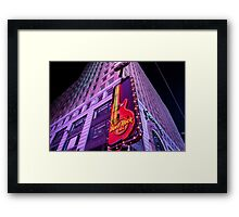 The Rock Is Hard Framed Print