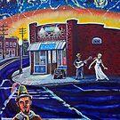 'Night Falls on NoDa' by Jerry Kirk