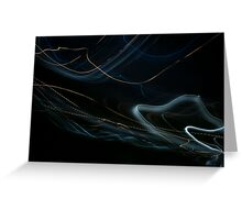 Loops of light (canvas optimized) Greeting Card