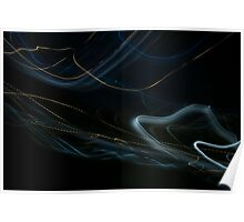 Loops of light (canvas optimized) Poster