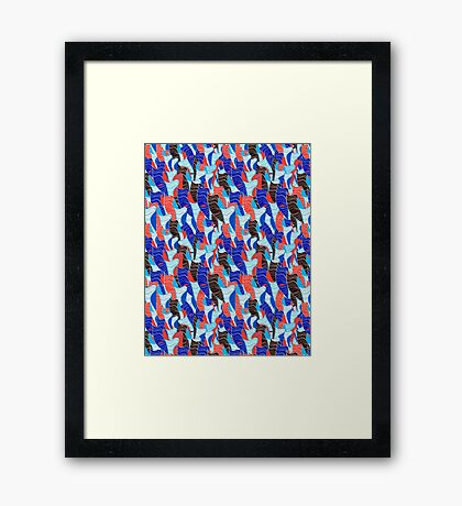 Abstract vector seamless pattern Framed Print