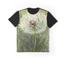 Watercolor Dandelion Seed Head Graphic T-Shirt