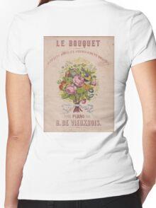 Le Bouquet Women's Fitted V-Neck T-Shirt