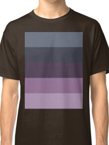 Girly Pattern Grey Salte Blue Ombre purple stripes  Classic T-Shirt