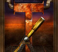 Steampunk - Alphabet - T is for Telescope by Mike  Savad
