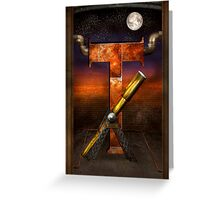 Steampunk - Alphabet - T is for Telescope Greeting Card