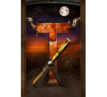 Steampunk - Alphabet - T is for Telescope Photographic Print
