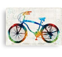 Colorful Bike Art - Free Spirit - By Sharon Cummings Canvas Print