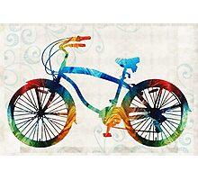Colorful Bike Art - Free Spirit - By Sharon Cummings Photographic Print