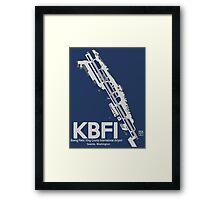 KBFI- Boeing Field/King County Intl. Airport Diagram Artwork Framed Print
