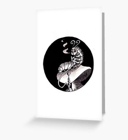 smoking Caterpillar Greeting Card