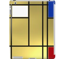 Tribute composition to Piet Mondrian iPad Case/Skin