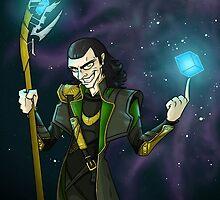 Cosmic Cube - Loki by mortiwear