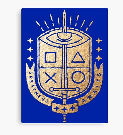 Playstation - Greatness Awaits Kings Crest Canvas Print