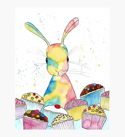 Baking Bunny by Peppermint Art Photographic Print