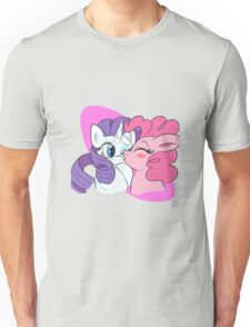 Pinkie Pie and Rarity Smooches Unisex T-Shirt
