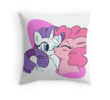 Pinkie Pie and Rarity Smooches Throw Pillow