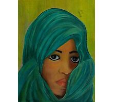 Girl with Scarf Photographic Print