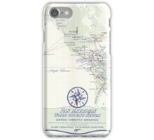 Pan Am (Pan American) Airlines World Route Map Circa 1955 iPhone Case/Skin