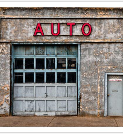 Auto Shop Sticker