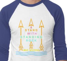 I stand with standing rock Men's Baseball ¾ T-Shirt