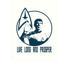 Mr Spock - Live Long & Prosper Art Print