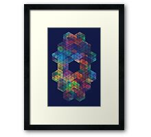 Extra Dimensional Cubes Framed Print