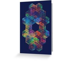 Extra Dimensional Cubes Greeting Card