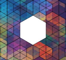 Extra Dimensional Cubes Sticker