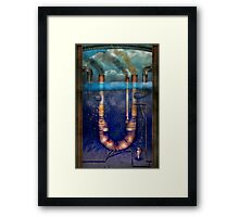 Steampunk - Alphabet - U is for Underwater Utopia Framed Print