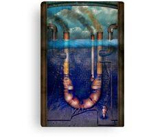 Steampunk - Alphabet - U is for Underwater Utopia Canvas Print