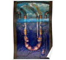 Steampunk - Alphabet - U is for Underwater Utopia Poster