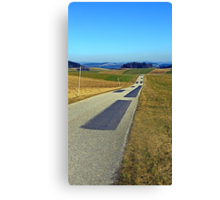 Country road into nothing particular | landscape photography Canvas Print