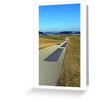 Country road into nothing particular | landscape photography Greeting Card