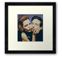 The Schmoopies - Gillian and David painting Framed Print