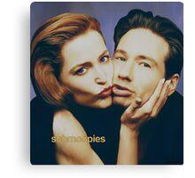 The Schmoopies - Gillian and David painting Canvas Print