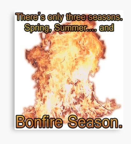 Bonfire Season Canvas Print