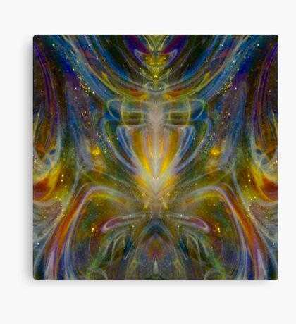 Yellow Glow Rainbow Psychedelic  Canvas Print