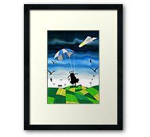 Paper Parachute Framed Print