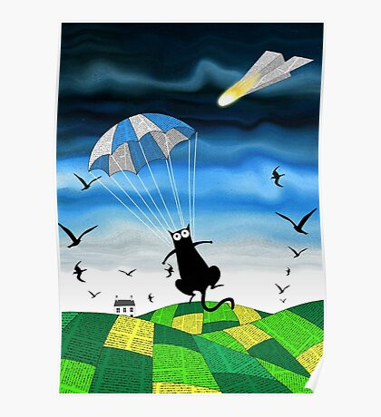 Paper Parachute Poster