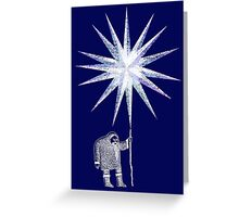 Old Man Winter Hermit and North Star Greeting Card