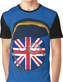 Polandball - Admiral UKball  Graphic T-Shirt