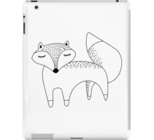 Black and white cute fox iPad Case/Skin