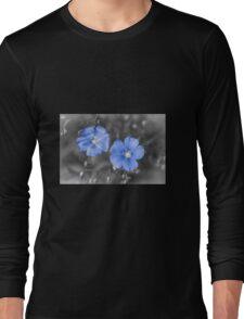 Gentle Blue Flower Long Sleeve T-Shirt