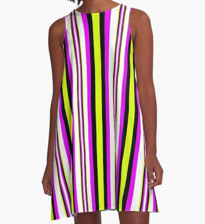 Deep Verticality A-Line Dress