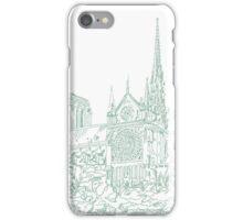 Notre Dame de Paris sketch iPhone Case/Skin