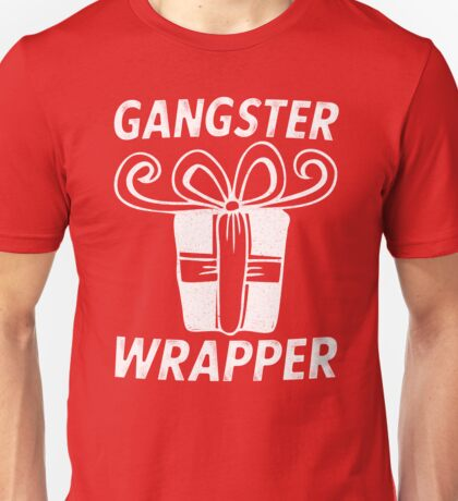 Gangster Wrapper (Rapper) Christmas Bow Present Unisex T-Shirt