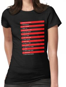 Idolize Yourself Tracklist Womens Fitted T-Shirt