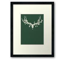 Deer Skull Paper-Cut Framed Print